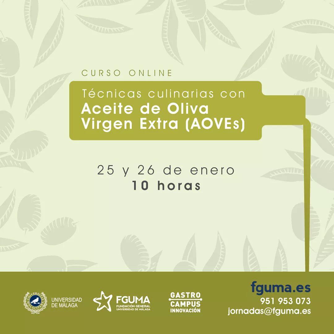 Técnicas Culinarias con AOVEs 25 Y 26 enero 2020